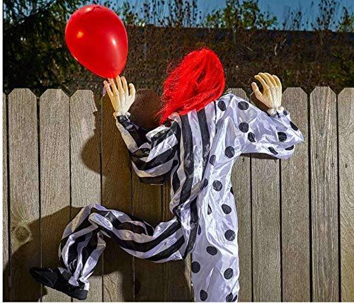 Zab Climbing Life Size Halloween Clown Scales Wall Fence Outdoor Spooky Creepy Holiday Decor