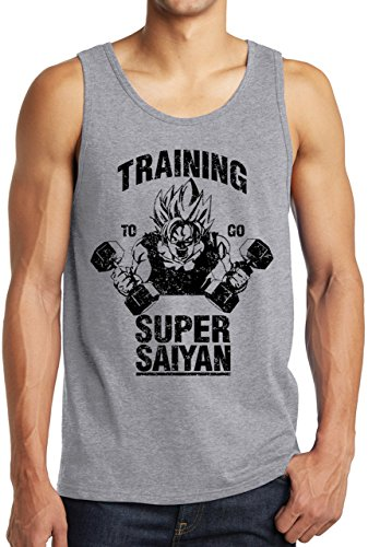Super Saiyan Tank Top Goku Manga Funny Anime Vegeta Shirt Dragon Ball Heather S ()