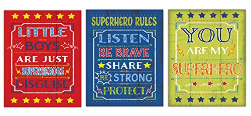 little boys are superheroes in disguise poster