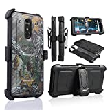 LG Stylo 4 Rugged Case, [360 Degree Protection] [Kick-Stand] Full-Body Heavy Duty Case with [Built-in-Screen Protector] [Belt Clip Holster] for LG Stylo 4 (Camo)