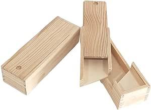 Caja plumier doble. En madera de pino en crudo. Para decorar ...