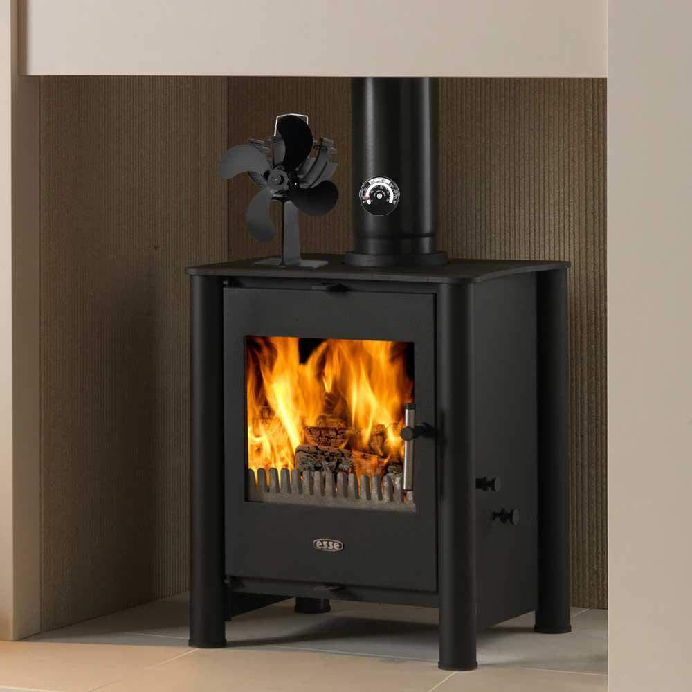 AOLVO - Ventilador para Estufas de Madera, tamaño Grande, Funciona con Calor, para leña/leña, circulación de Calor respetuosa con el Medio Ambiente para ...