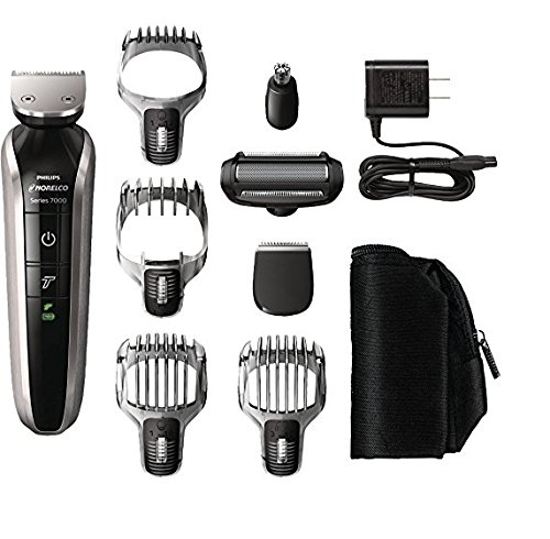 Price comparison product image Philips Norelco 8-Piece Multigroom 7100 Electric Shaver Men's Face Hair Trimmer Grooming Kit with Charger and Pouch