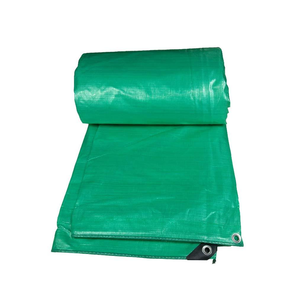 YEIUY Wasserdichte Plane grün High-Density-Gewebte staubdichte Poncho, Outdoor-Zeltplane dicken Staubschutz Sonnencreme, Camping Angeln Picknick, eine Vielzahl von Größen