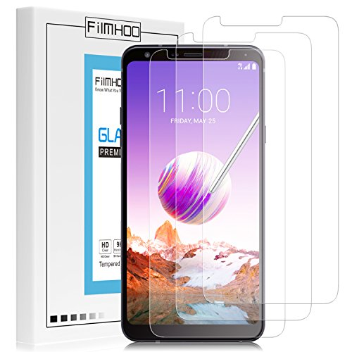 [3-Pack] FilmHoo for LG Stylo 4 2018 (Metropcs) Tempered Glass Screen Protector,HD Clear,Bubble Free,Anti-Scratch with Lifetime Replacement Warranty