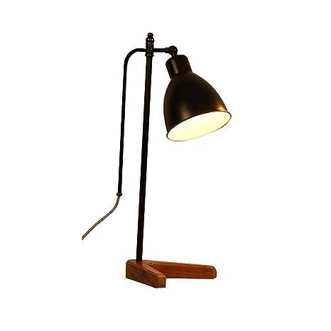 Lámpara De Escritorio Con Base De Madera - Vintage Y Minimalista ...