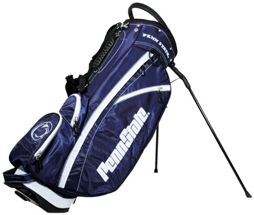 (Team Golf NCAA Penn State Nittany Lions Fairway Golf Stand Bag, Lightweight, 14-way Top, Spring Action Stand, Insulated Cooler Pocket, Padded Strap, Umbrella Holder & Removable Rain Hood )