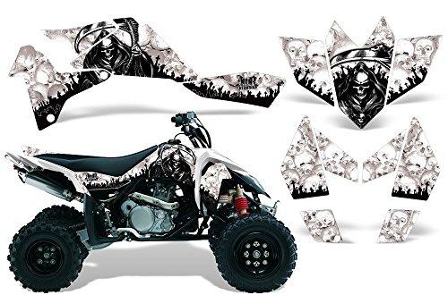 One Industries Suzuki Graphics (2006-2009 Suzuki LTR 450 AMRRACING ATV Graphics Decal Kit:Reaper-White)