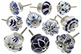 shabby chic kitchens Zoya's 10 Mixed Blue Shabby Chic Ceramic Cupboard Knobs Drawer Pull Kitchen K-203A