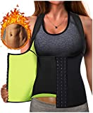 Eleady Best Neoprene Waist Trainer Corset Sweat Vest Weight Loss Body Shaper Workout Tank Tops Women (Black Sauna Suit, S(US 4-8))