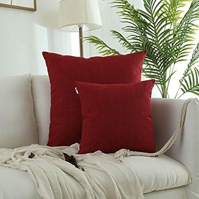 Kevin Textile Faux Linen Square Pillow Case