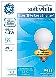 GE Lighting 66247 Soft White 43-Watt, 620-Lumen A19