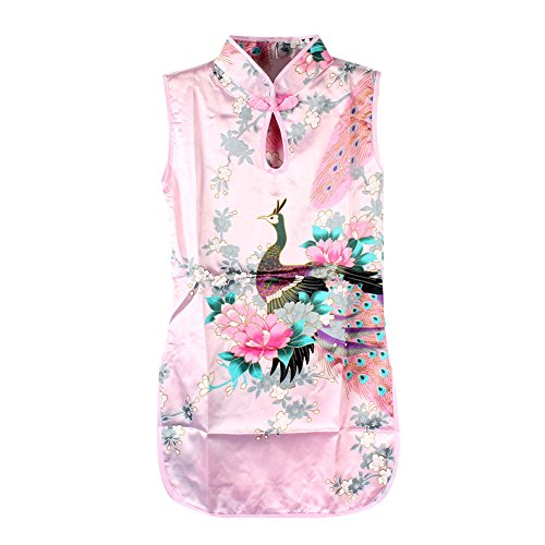 Multi-Colors Chinese Qipao Baby Girl Kids Floral Peacock Cheongsam Dress Clothes (Chinese Chinese Dresses Dress)