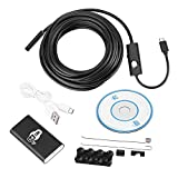 Micro USB Camera Endoscope, Wireless WiFi 5.5mm Borescope Inspction Camera Waterproof 2MP CMOS Camara with 6 Adjustable LEDs for IOS Android PCs Laptops(3.5m)