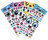 Big Eyes Stickers with Lips, Glasses, Beard, Ties PVC Foam Eyes Decals for Craft Card Making - 140 Stickers