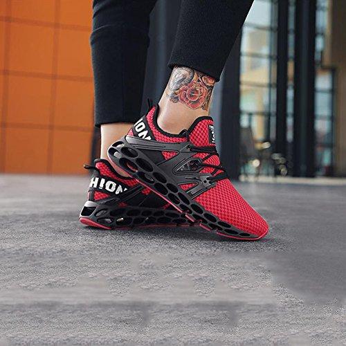 5 Zapatillas Tamaño Zapatos Muma color De Eu39 Gimnasio Deporte Red cn40 Gray Caminan Funcionan Que Deportivas Con Los Atléticas uk6 Td6q4d