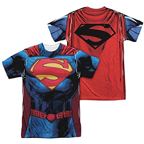 Superman New 52 Superman All Over Print All Over Print T-Shirt Large White