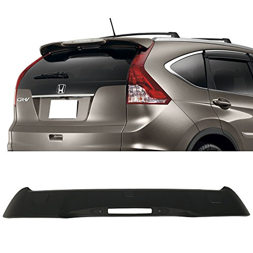 Roof Spoiler Fits 2012-2016 Honda CR-V | Factory Style ABS Painted Matte Black Rear Wind Visor Spoiler Wing By IKON MOTORSPORTS | 2013 2014 2015