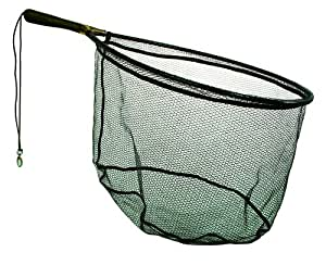 Frabill Wade Net Tear Drop Hoop with 7.5-Inch Fixed Rubber Coated Handle (Tangle Free Micro-Mesh), 19 x 25-Inch