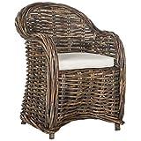 Safavieh Home Collection Nita Natural Wicker Club Chair, Standard