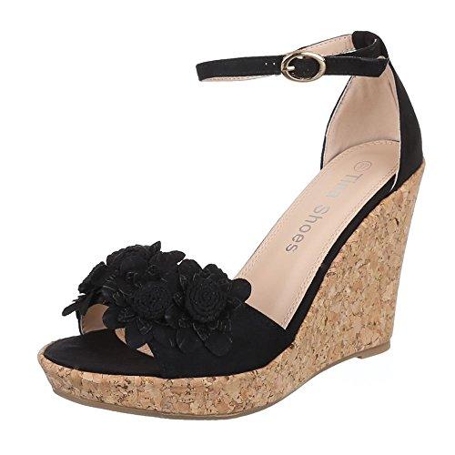 Negro Design negro Sandalias Mujer Sandalias Ital ZTIw8qz44