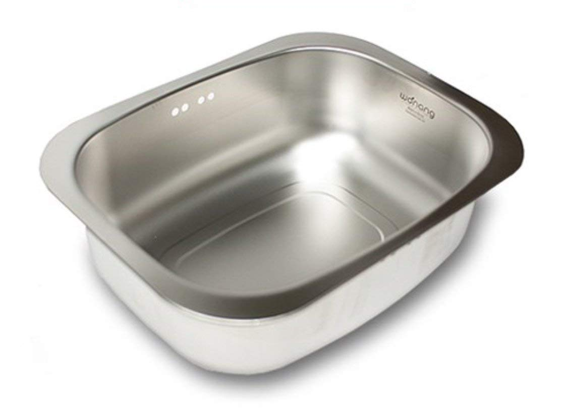 WANANG Stainless Steel Washing-up Bowl Multi-purpose Dish Tub for Sink/Wash Basins/Dishpan for Sink by WANANG