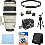 Canon EF 100-400mm f4.5-5.6L IS USM Telephoto Zoom Lens with 77mm Multicoated UV Protective Filter, Deluxe Bag, Lens Cap Keeper, Microfiber Cleaning Cloth, Memory Card Wallet, USB 2.0 Card Reader, Professional Tripod