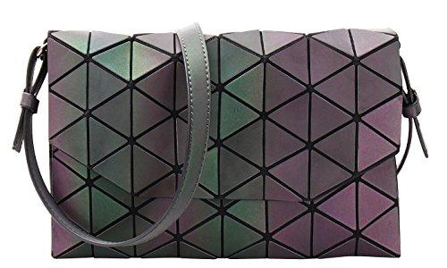 (Geometric Shard Lattice Clutch with Detachable Strap (LUMINOUS))