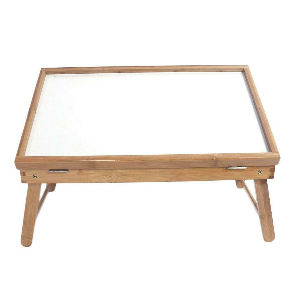 CUORE BANGKOK Table Top Adjustable Dining-Table 5gear Adjustable Bamboo Wood Color White Plank
