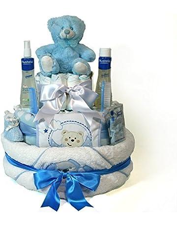 Tarta de pañales Dodot - Baño Maxi azul - Mil Cestas a37561079e6d7