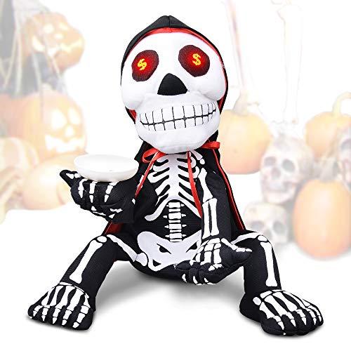 Halloween Decoration Skeleton Toy Trick or Treat Prop Shaking Singing Halloween Decor (Dancing Skeleton Toy)