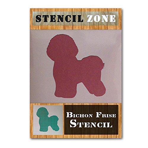 Bichon Frise Stood Up Mylar Painting Wall Art Stencil Home Decor DIY Art Crafts (A6 Size Stencil - XXSmall)