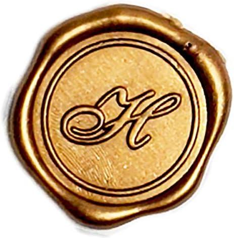 Old World Monogram wax seal Sticker J