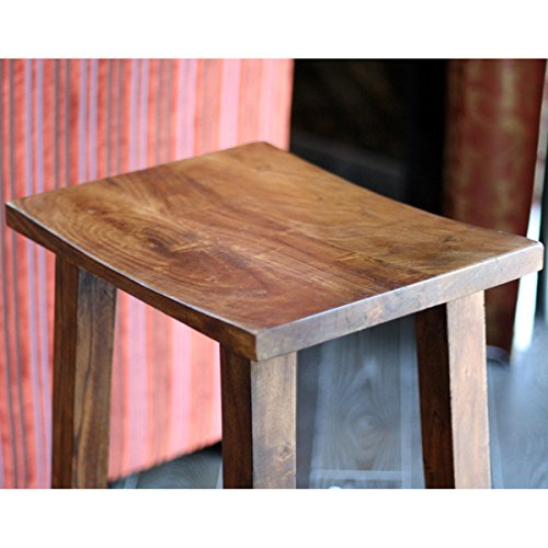 Handcrafted Acacia Tall Counter Stool (India)