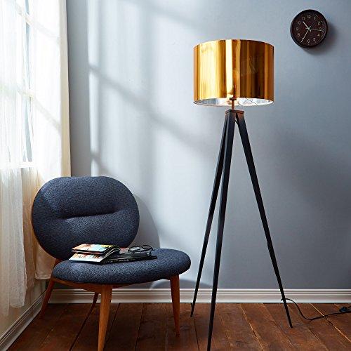 Versanora VN-L00004 Romanza Tripod Floor Lamp, Gold (Gold Lamp Modern)