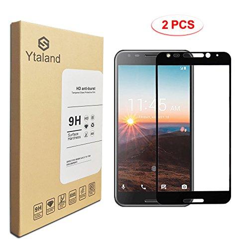 [2 Pack] Alcatel T-Mobile REVVL 5049W Screen Protector, Full Cover Tempered Glass Anti-Fingerprints 9H Hardness Screen Protector for Alcatel T-Mobile REVVL 5049W / Walters/Fierce 2017 Black Colour