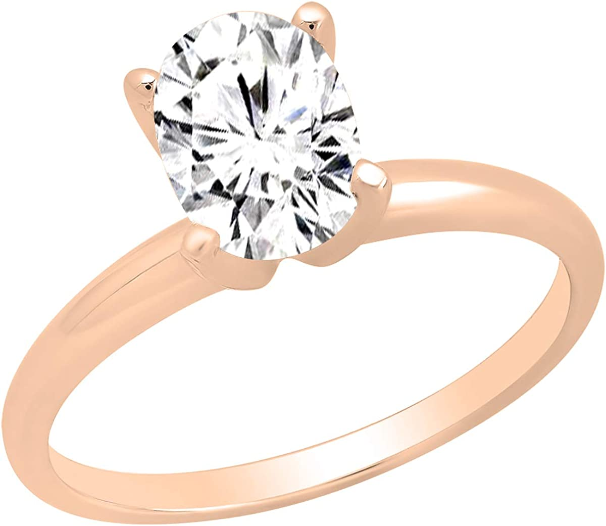 Solitaire 1.50CT Round Moissanite Ring /& Wedding 2-Bridal Set In 14k Yellow Gold