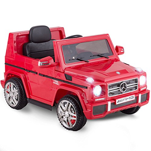 Costzon Kids Ride On Car, Licensed Mercedes Benz G65, 12V Electric RC Remote Control Car (Red)