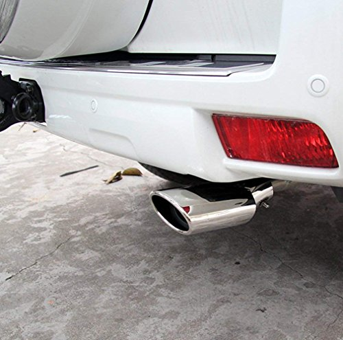 ecowlboy chrome stainless steel exhaust muffler tip for
