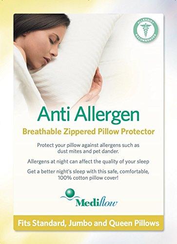 Mediflow anti allergen pillow protector buy online in for Anti allergy pillow protector