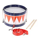 ammoon Colorful Children Kids Toddler Drum Musical Toy Percussion Instrument with Drum Sticks Strap