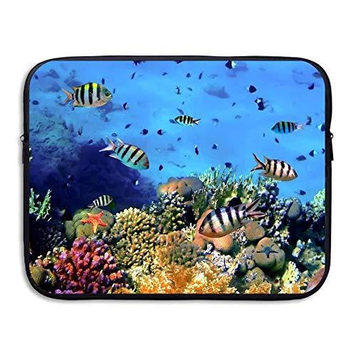13 15 inch Colorful Tropical Fish-Coral Underwater Ocean Laptop Sleeve Bag Water Resistant