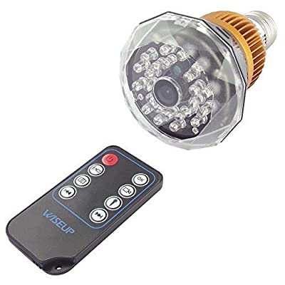 Wiseup™ 1280x720P HD Hidden Camera LED Bulb Motion Activated Security DVR Video Recorder IR Night Vision