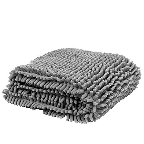 KDWYC Pet Bath Towel, Ultra Absorbent and Fast Drying Pet Towel, Comfortable and Breathable, Wear and Durable, Quick Drying and Machine Washable, for Any Pet,Gray,M