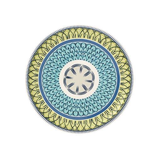 Villeroy & Boch Casale Carla Salad Plate, Porcelain, Blue/White/Green, 22 cm