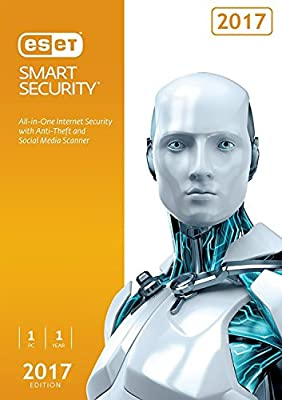 ESET Smart Security 2017 | 1 PC | 1 Year Subscription | PC | Keycard- No Disc