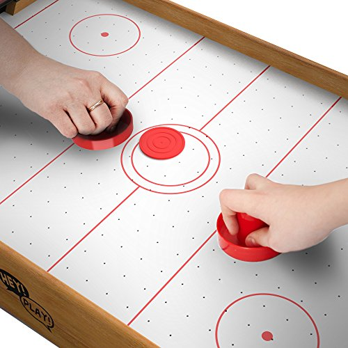 Amazon.com: Mini Arcade Air Hockey Table  A Toy For Girls And Boys By Hey!  Play! Fun Table  Top Game For Kids, Teens, And Adults  Battery Operated (22  ...