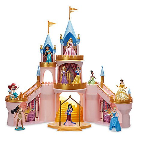 Disney Princess Light-Up Castle Play Set Includes 10 Princess Figurines by Princess Castle Playset