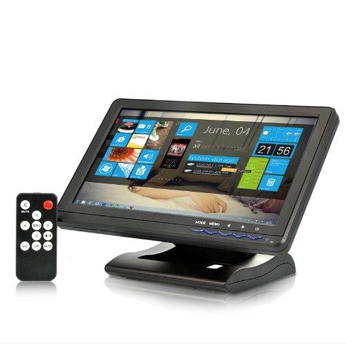 BW 10.1 Inch High Quality Wide/Touchscreen Monitor - HDMI, AV, VGA, YPbPr - Black by BW