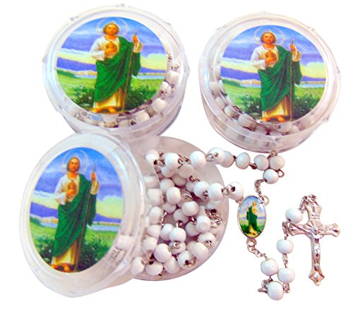 Westman Works St Jude Rosary Bulk Set for Schools Communion or Confirmation, Pack of 10